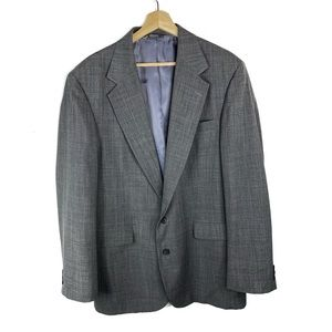 Haggar Two Piece Grey Wide Notch Suit Set